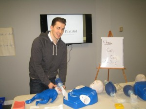 CPR training for infant victims