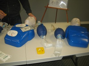 CPR, AED and Mannequins in workplace approved CPR Course